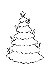 Christmas Tree - Christmas Coloring Book