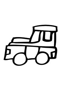 Truck - Cars Coloring Book