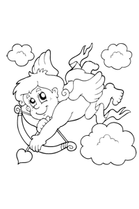 Cupid in the Clouds - Valentines Coloring Book