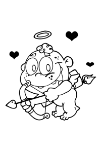 Cupid Taking Aim - Valentines Coloring Book