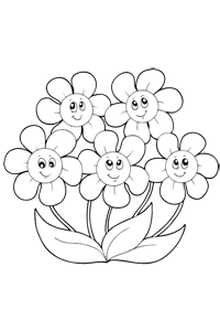 Smiling Daiseys - Valentines Coloring Book