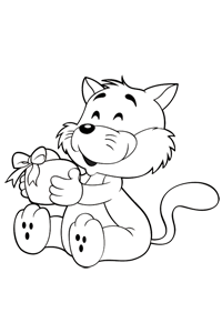 Fox Holding a Heart - Valentines Coloring Book