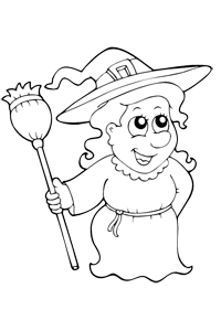 Witch - Halloween Coloring Book